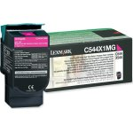 Lexmark 0C544X1MG lasertoner, rød, 4000s