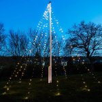 David lyskæde til flagstang, 10 m, 360 LED lys