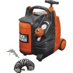 Black & Decker kompressor, 1,5 HK 5 L m. hjul