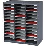 Paperflow Bakkesystem m. 36 rum, mørk grå