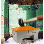 Salt-/sandbeholder, Tough, 700 L,Bundåb,Grå/orange