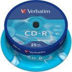 Verbatim CD-R 700mb/80min spindel, 25stk