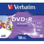 Verbatim DVD+R 4,7GB printable, 10 stk