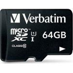 Verbatim 64GB microSDXC class 10 m/adapter