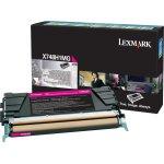 Lexmark X748H3MG lasertoner, rød, 10000s
