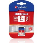 Verbatim SDHC 8GB Class 10 hukom. kort