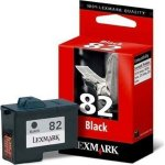LEXMARK 18L0032 no. 82 blæk, sort (S.600)