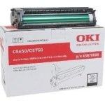 OKI 43870006 lasertromle, rød, 20000s