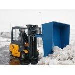 Truckskovl til gaffeltruck, 1000 liter, blå