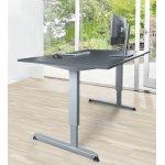 Stay hæve/sænkebord grå/alu 180x90 cm