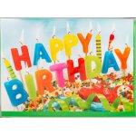 Fødselsdagskort, Kage med lys