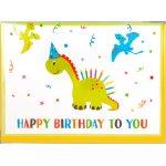 Fødselsdagskort, Dinosaur