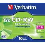 Verbatim CD-RW/700MB Jewel Case, 10 stk