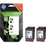 HP 56/C9502AE blækpatroner, sort, 2x 520s