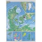 NAGA Danmarkskort 97x137cm, lamineret og ridsefast
