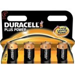 Duracell Plus Power C-batterier, 4 stk