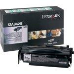 Lexmark 12A8425 lasertoner, sort, 12000s