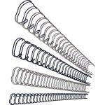 GBC metal spiralryg A4, 21 rings, 10mm, sølv