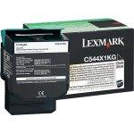 Lexmark 0C544X1KG lasertoner, sort, 6000s