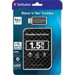 Verbatim 1.5TB Hard Drive 2,5'' Store N Go bundle