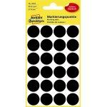 Avery 3003 manuelle etiketter, 18mm, 96 stk, sort