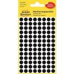 Avery 3009 manuelle etiketter, 8mm, sorte, 416 stk