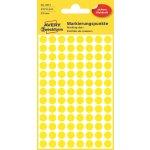Avery 3013 manuelle etiketter, 8mm, gule, 416 stk