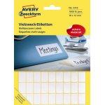 Avery 3312 manuelle etiketter, 12 x 18mm, 1800stk