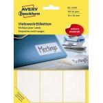 Avery 3329 manuelle etiketter, 76 x 39mm, 192stk