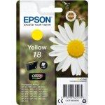 Epson 18/C13T18044022 gul blækpatron, 180s m/alarm