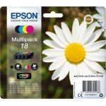 Epson 18/C13T18064022 blækpatron, sampak m/alarm