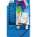 Elba Polyvision mappe PP, 3-klap, m/elastik, blå
