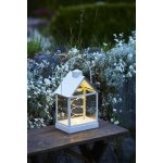Lauritz lanterne, Hvid, H 30 cm, 30 LED lys