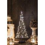 Juletræ m/ 85 LED lys, Sort, H 42 cm