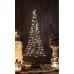 Juletræ m/ 120 LED lys, Sort, H 50 cm