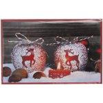 Julekort Mini med dekorerede æbler