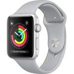Apple Watch Series 3 GPS, 38mm Sølv, lysegrå rem