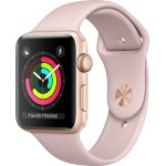 Apple Watch Series 3 GPS, 38mm guld, lyserød rem