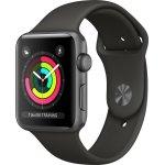 Apple Watch Series 3 GPS, 38mm space grey, grå rem
