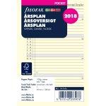 Filofax Refill Pocket Årsplan, 2018