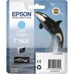 Epson T76054010 blækpatron,  25.9 ml., lys cyan
