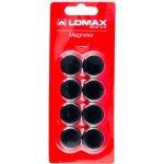 Lomax runde whiteboard magneter, 8 stk, 2 cm, sort