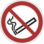 """Durable """"rygning forbudt"""" klistermærke, rødt"""