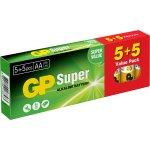 GP Super Alkaline  AA batterier, 10 stk.