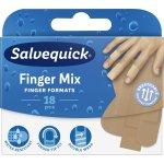 Salvequick Finger Mix plastre, 18 stk.