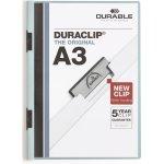 Durable Duraclip A3 Klemmappe, blå, 10 stk.