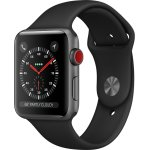 Apple Watch Series 3 GPS+Cell, 42mm, sort rem