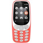 Retro Nokia 3310 Mobiltelefon med 3G, rød