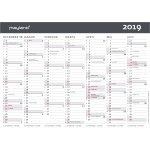 Mayland A5 Kontor-bordkalender, 2 x 6 måneder