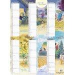 Mayland A3 Familiens årskalender m. illustrationer